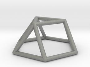 0725 J03 Triangular Cupola E (a=1cm) #1 in Gray PA12