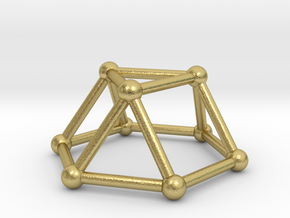 0726 J03 Triangular Cupola V&E (a=1cm) #2 in Natural Brass