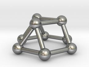 0727 J03 Triangular Cupola V&E (a=1cm) #3 in Natural Silver