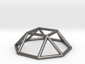 0728 J04 Square Cupola E (a=1cm) #1 in Polished Nickel Steel