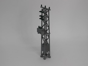 N Scale Distribution Transformer Pylon #1 in Smooth Fine Detail Plastic