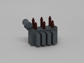N Small Power Transformer in Smooth Fine Detail Plastic