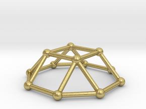 0729 J04 Square Cupola V&E (a=1cm) #2 in Natural Brass