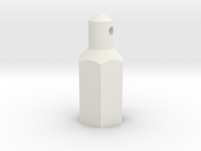 ZC-118 Individual battery post in White Natural Versatile Plastic