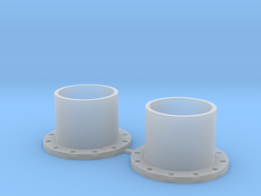 14mm Fuel Pipe Flanges_2 Pack in Smooth Fine Detail Plastic
