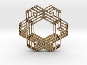 hangerless pendant 9 in Polished Gold Steel