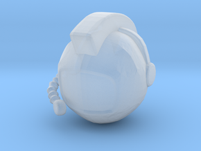 SpaceHelmetv1 in Smooth Fine Detail Plastic