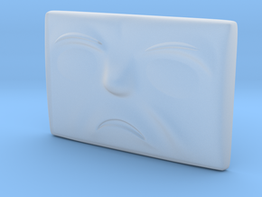 Small Sad Face in Smoothest Fine Detail Plastic