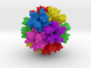 Rous Sarcoma Virus in Natural Full Color Sandstone
