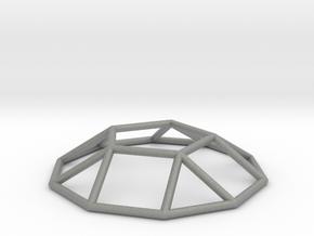 0731 J05 Pentagonal Cupola E (a=1cm) #1 in Gray Professional Plastic