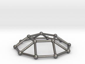 0732 J05 Pentagonal Cupola V&E (a=1cm) #2 in Polished Nickel Steel