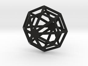 Octagon Necklace in Black Premium Versatile Plastic