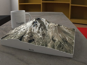 Mt. Shasta, California, USA, 1:30000 in Natural Full Color Sandstone