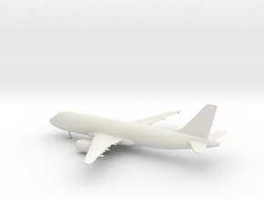 Airbus A320 in White Natural Versatile Plastic: 1:220 - Z