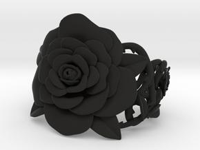Rose Bracelet in Black Premium Versatile Plastic