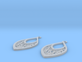 Edelmar earrings in Smooth Fine Detail Plastic: Small