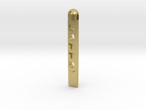 tool Lotto Scratch Card Scraper Ver2 in Natural Brass