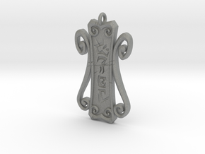 Runic Amulet 01 - 60mm in Gray PA12