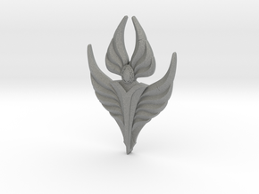 Fire Angel Pendant 02 - 60mm in Gray Professional Plastic