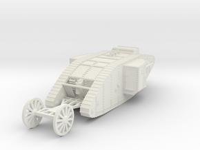 1/87 (HO) Mark 1 Tank Male in White Natural Versatile Plastic