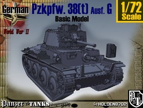 1-72 Basic PzKpfw 38t Ausf G in White Strong & Flexible