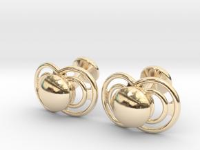 Pacifier Cufflinks in 14K Yellow Gold