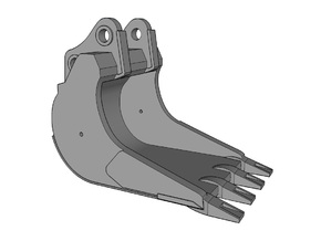 HO - Cliff Bucket for 20-25t excavators in Smooth Fine Detail Plastic