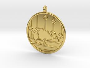 Genetics Symbol in Polished Brass