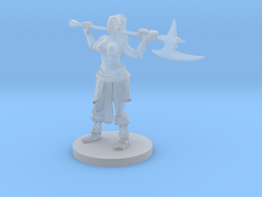 Half Orc Female Barbarian in Smooth Fine Detail Plastic