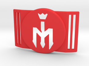 Freestyle Libre Shield - Libre Guard FOOTBALL - M in Red Processed Versatile Plastic