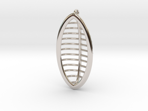 Ark Pendent in Rhodium Plated Brass