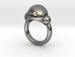 Bubbles Ring US Size 5 ¾ UK Size L in Polished Silver