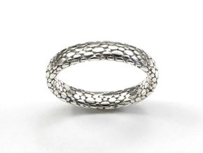 Elipsis Skin Ring in Polished Silver: 6.5 / 52.75