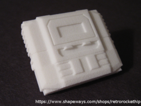 Time Shield (5mm Peg) in White Natural Versatile Plastic