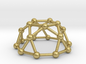 0736 J06 Pentagonal Rotunda V&E (a=1cm) #3 in Natural Brass