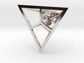 Fractal Pyramid - Pendant in Platinum