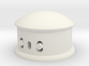 Maginot Turret in White Natural Versatile Plastic