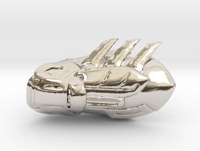 Batman Gauntlet Right in Rhodium Plated Brass
