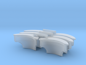 Castle-Type Pauldron V2 x6 in Smooth Fine Detail Plastic