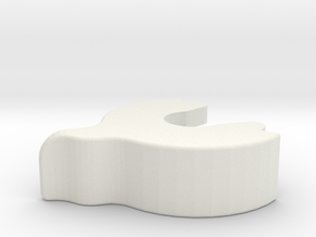 [LRG NUT] MM 510 Lock Ring  in White Natural Versatile Plastic