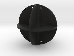 Signal Ball, Anchor Ball  1:12 in Black Natural Versatile Plastic