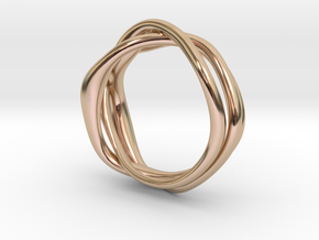 Erato ring in 14k Rose Gold Plated Brass: 6 / 51.5