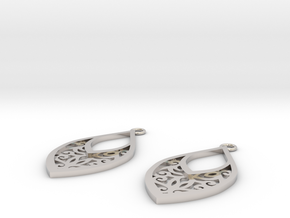 Edelmar earrings in Rhodium Plated Brass: Small