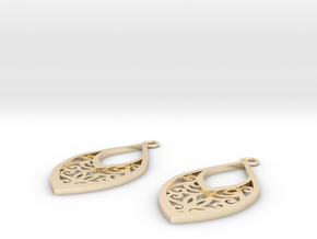 Edelmar earrings in 14K Yellow Gold: Small