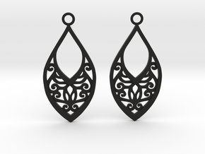 Edelmar earrings in Black Natural Versatile Plastic: Medium