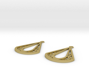Calyson earrings in Natural Brass: Small