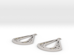 Calyson earrings in Rhodium Plated Brass: Small