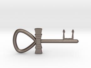 "3"" Ankh 'kA' key votive in Polished Bronzed-Silver Steel"