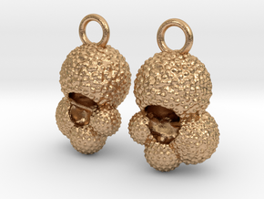 Globigerina Earrings in Natural Bronze