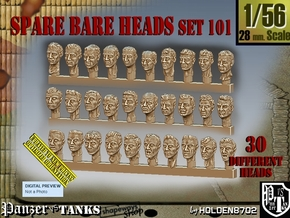 1/56 BareHeads Set101 in Smooth Fine Detail Plastic